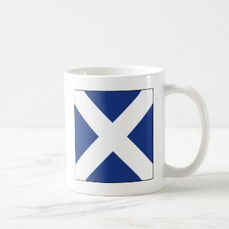 Mike (M) Signal Flag Coffee Mugs