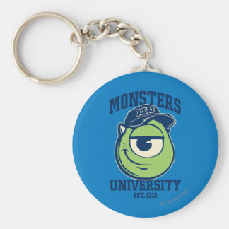 Mike Monsters University Est. 1313 light Basic Round Button Keychain