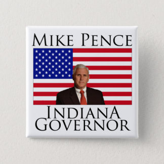 Mike Pence Indiana Governor Button