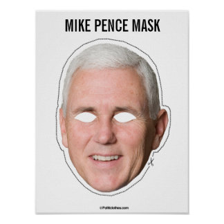 Mike Pence Mask Cutout Poster