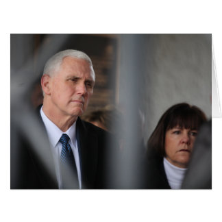 Mike Pence With Wife Karen At Dachau Card