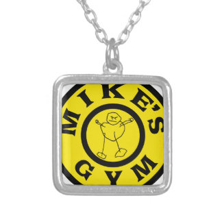 Mikes Gym Silver Plated Necklace
