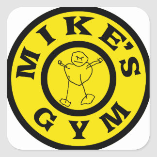 Mikes Gym Square Sticker