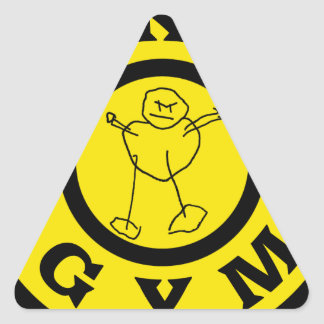 Mikes Gym Triangle Sticker