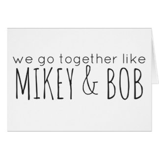 Mikey & Bob (Pittsburgh KISS) Card