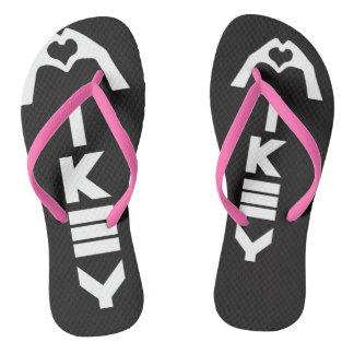 Mikey Sanley Black/Pink Sandals