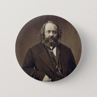 Mikhail Bakunin Russian Anarchist by Nadar 2 Inch Round Button