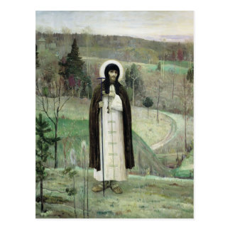 Mikhail Nesterov- Sergius vénérable de Radonezh Carte Postale