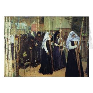 Mikhail Nesterov- The Taking of the Veil Card