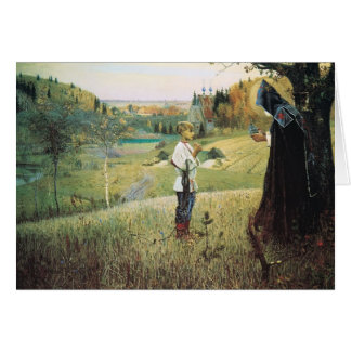 Mikhail Nesterov- Vision of the Young Bartholomew Card