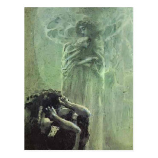 Mikhail Vrubel- Demon and Angel with Tamara's Soul Postcard