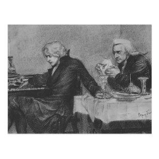Mikhail Vrubel- Salieri pours poison, Mozart glass Postcard