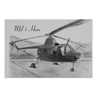Mil 1 Hare Soviet Helicopter Print