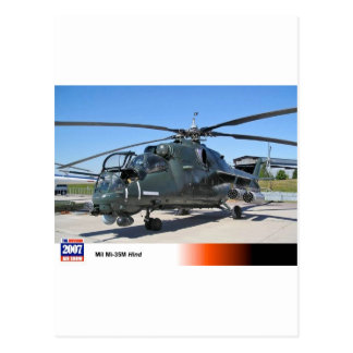 MIL 35 HIND RUSSIAN HELICOPTER POSTCARD
