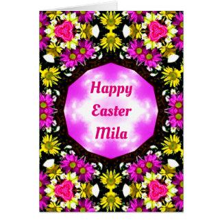 MILA~ Personalised Easter card pattern ~