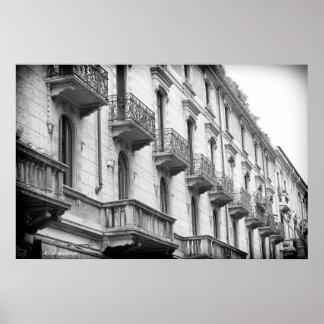 Milan Balconies Poster