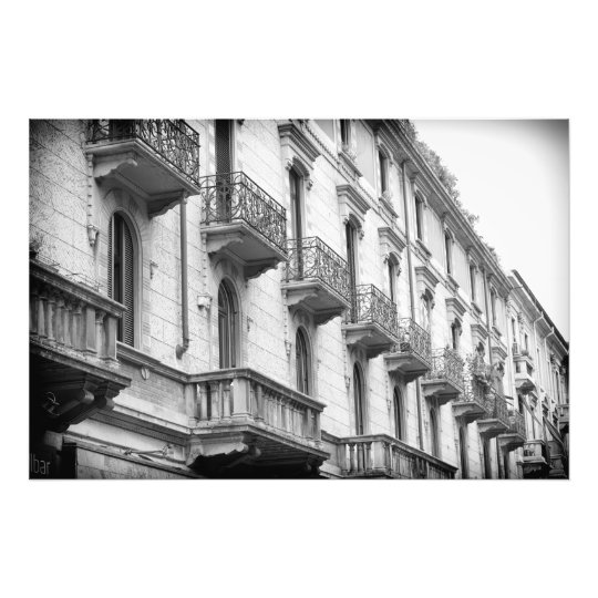 Milan Balconies Print