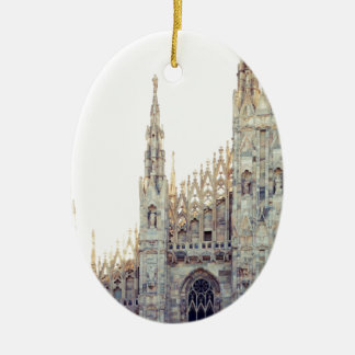 Milan Cathedral Ceramic Oval Ornament