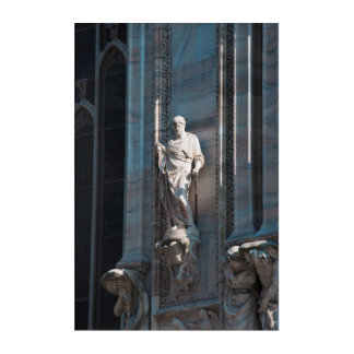 Milan Cathedral dome statue architecture monument Acrylic Print