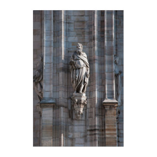 Milan Cathedral dome statue architecture monument Acrylic Wall Art