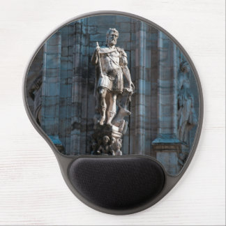 Milan Cathedral dome statue architecture monument Gel Mouse Pad