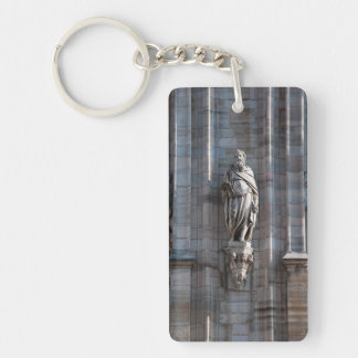 Milan Cathedral dome statue architecture monument Keychain
