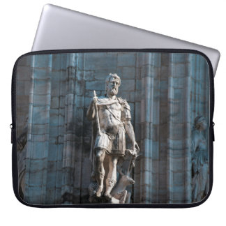 Milan Cathedral dome statue architecture monument Laptop Sleeve