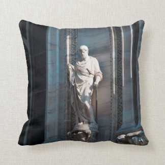 Milan Cathedral dome statue architecture monument Throw Pillow