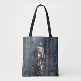 Milan Cathedral dome statue architecture monument Tote Bag