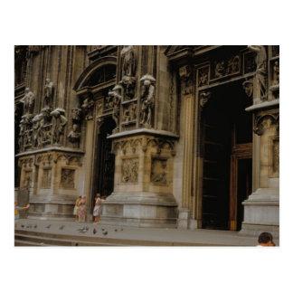 Milan Cathedral entrance Postcard