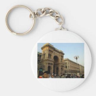 Milan Italy Basic Round Button Keychain