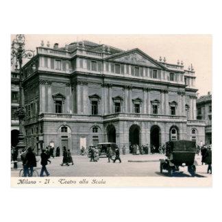 Milan, Italy, Teatro alla Scala, Vintage Postcard