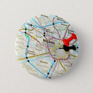 Milan, Milano (Italy) 2 Inch Round Button