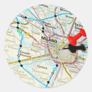 Milan, Milano (Italy) Classic Round Sticker