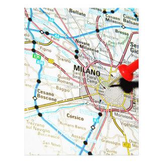 Milan, Milano (Italy) Letterhead