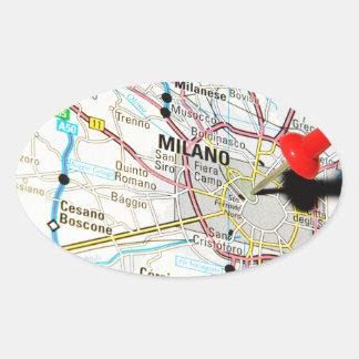 Milan, Milano (Italy) Oval Sticker