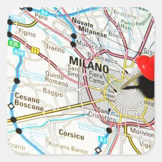 Milan, Milano (Italy) Square Sticker