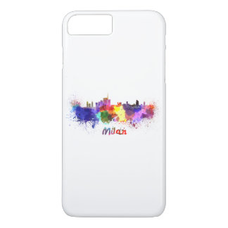 Milan skyline in watercolor iPhone 7 plus case