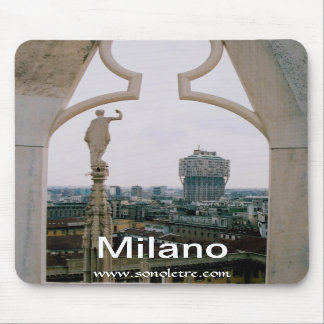 Milan Skyline Panorama Mousepad