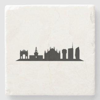 Milan skyline stone coaster