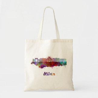 Milan V2 skyline in watercolor Tote Bag