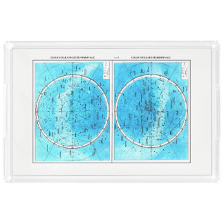 Milanese Map Serving Tray