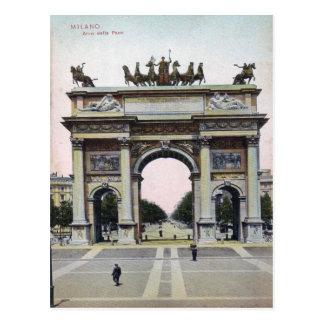 Milano Arco della Pace Italy Vintage Postcard