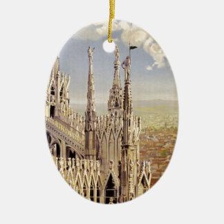 Milano Ceramic Oval Ornament