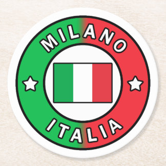 Milano Italia Round Paper Coaster