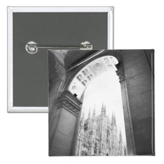 Milano Italy, Galleria View of the Duomo 2 Inch Square Button
