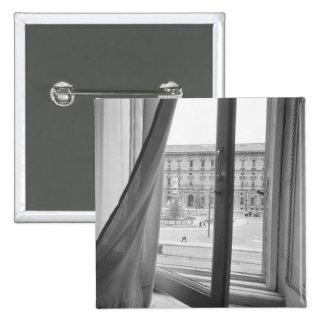 Milano Italy, View from La Scala Opera Window 2 Inch Square Button