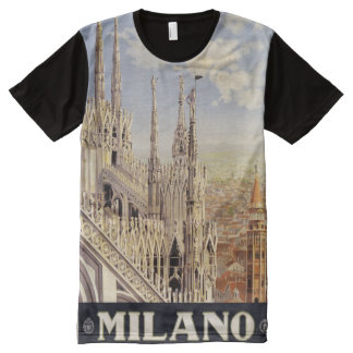 Milano Milan Italy Vintage Travel Poster shirt