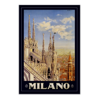 Milano (with border) poster