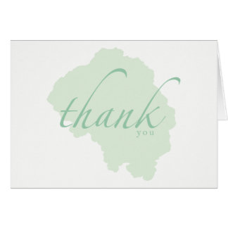 Mild Mint Watercolor Thank You Cards
